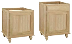 unfinished bathroom cabinets. Bead board  Designer Bathroom Vanities for Sale in Cherry Oak and Maple