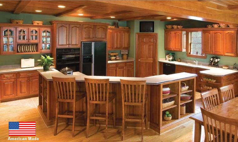 Unfinished Kitchen Cabinets. Custom Cabinets in Oak Solid Wood Unfinished Kitchen for Homeowners and Contractors